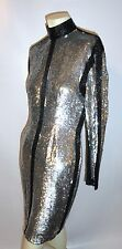 Vintage Naeem Khan Riazee nights  full beaded Sequined black silver  M