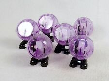 Lot of 6 Purple Wind Up Walking Toys ~ Mechanical Fun For All Ages ~ #WG106