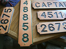 Custom Hand Carved Redwood House Sign - Plaque 1 to 7 Numbers or Letters