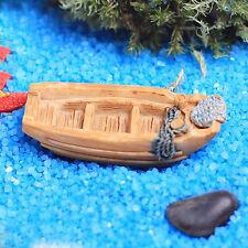 Micro landscape Mini Resin Boat DIY Garden Ornament Fairy Garden Decors