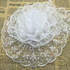 New 5 yards 65mm White Organza Lace Gathered Pleated Sequined Trim #UK04