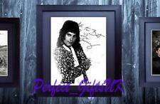 FREDDIE MERCURY QUEEN FRAMED & MOUNTED SIGNED 10x8 REPRO PHOTO PRINT