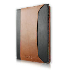 For iPad Air 2 ipad 6 100% Genuine Leather Case Cover Auto Sleep/Wake Wallet