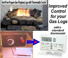 Gas Log Thermostat (non-electric) Conversion to Electric/ Electronic Control Kit
