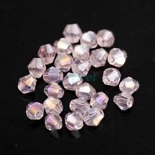 Wholesale 100pcs Crystal Bicone Beads For Jewelry DIY Making 22Colors 4mm