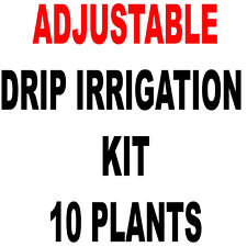 10  PLANTS - D.I.Y. DRIP IRRIGATION KIT WITH ADJUSTABLE EMITTERS PLANTS