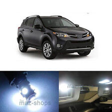 13Pcs LED White Lights Interior License Package Kit For  2013-2015 Toyota Rav 4