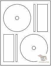 2000 CD DVD Laser and Ink Jet Labels -Full Face Memorex Size! 1000 Sheets!