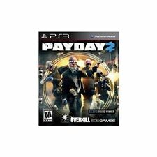 Payday 2 PS3 Digital Download $40.00