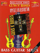 Guns N' Roses Appetite For Destruction Learn to Play Bass Guitar Tab Music Book