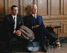 Jon Hamm and John Slattery Signed 8x10 Photo Mad Men The Town Don Draper COA