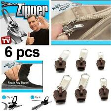Hot TV 6Pcs Fix A Zipper Zip Slider Rescue Instant Repair Kit Replacement GM