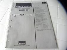 Sansui Factory Original Service Manual C-55 Stereo Preamplifier