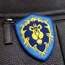 World of Warcraft ALLIANCE 3 Game EMBROIDERED Hook VELCRO PATCH Morale Badge