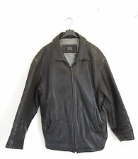CAMEL ACTIVE Mens Black Leather Winter Jacket Coat Size: 56