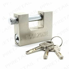 LARGE★HIGH SECURITY★SHUTTER PADLOCK Heavy Duty Lock Secure/Steel/Strong ANTI SAW