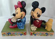 RARE Mickey Mouse Minnie Mouse Bookends Disney Traditions Jim Shore Enesco