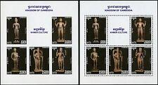 Cambodia Kambodscha 2016 Götterstatuen der Khmer Buddha Kulturerbe Blocks A/B **