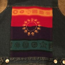 Women's Sz.XS Pendleton Jean Vest,with much detail on the back