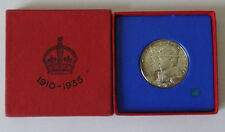 George V solid silver cased 1935 silver Jubilee Medallion UNC superb example