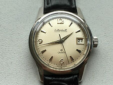 Men's Vintage Le Cheminant Master Mariner Date 41 jewels 2ADJ Auto mw SS Watch
