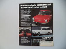 advertising Pubblicità 1973 DAF 44 BERLINA/STATIONCAR