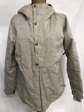 686 WOMENS AUTHENTIC RUMOR INSULATED JACKET SKI COAT IVORY GREY LARGE NEW!! $200