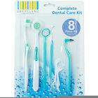 8 Pc Stainless Steel Dental Tool Set Dentist Teeth Kit Clean Hygiene Pick Probe