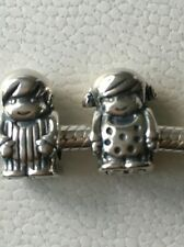 pandora silver boy and girl charms