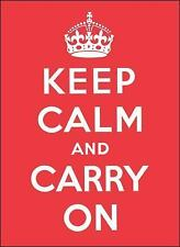 Keep Calm and Carry On -- LIKE NEW -- RAPID SHIPPING
