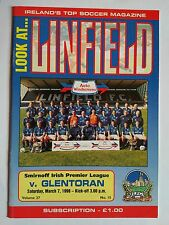Linfield v Glentoran 1997/98 Smirnoff Irish Premier League. Mint condition.