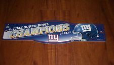2012 NEW YORK GIANTS SUPER BOWL XLVI CHAMPIONS SIGN