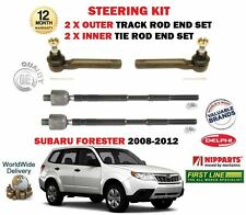 FOR SUBARU FORSTER 2008-2012 2x OUTER & 2x INNER STEERING TRACK RACK TIE ROD END