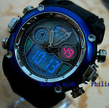 OHSEN Dual Time Blue Alarm Analog Digital Fasion Smart Cool Mens Boy Sport Watch