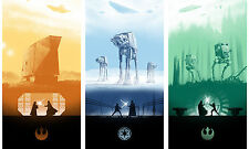 STAR WARS - ICONIC Fantasy 3 Movie Large Wall Art Canvas Picture 20x30""