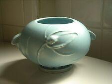 Roseville Pottery USA Teasel Matte Blue Bowl- 342-4