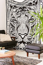 Indian Tiger  Wall Hanging Double Tapestry Bedspread Throw Ethnic Decor a5
