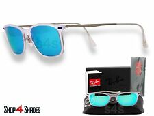 Ray Ban Lite Ray Wayfarer Sunglasses TRANSPARENT_SILVER_BLUE MIRROR 4225 646/55