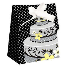WEDDING AND BRIDAL Silver Cake FAVOR BOXES (12) ~ Party Supplies Paper Treat