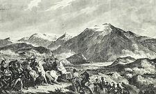 Bataille de Rivoli 1797 - Gravure XIXème