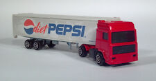 Majorette Diet Pepsi Cola Volvo COE Semi Delivery Truck Trailer Scale Model