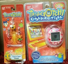 NEW Bandai Tamagotchi Connection RARE PINK Cherries Virtual Pet V3 19400 + BONUS