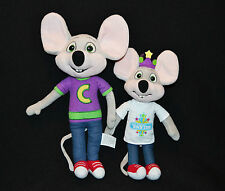 Chuck E Cheese Pizza Collectable Plush Toys  x 2  2013 CEC Entertainment