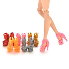 High Heel Sandals Shoes For Barbie  Doll Clothe Accessories for 10 Pairs