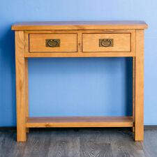 roseland furniture surrey oak light honey waxed console table brown