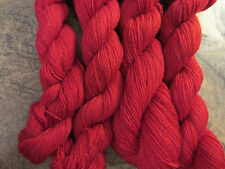 Fifilabonk 'PILLAR BOX RED 2' 100% CASHMERE 2ply LACE WEIGHT = 5 HANKS= 1200yd
