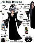 Black Gothic Black Angel Plus Size Halloween Costume NEW 1x 2x 3x 4x 5x 6x 7x 8x