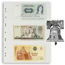 20 Lighthouse Grande Pages Currency Toploaders Sleeves 3C Stamp Sheets Vario