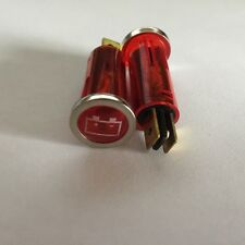 Incandescent 12V Auto Indicator Light Lamp - Warning Light Red Battery