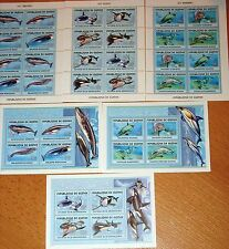 GUINEA 2001 Klb 3410-21 Block 687-89 Wale aller Welt Whales Grauwal Buckelwal **